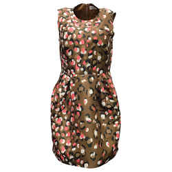RED Valentino Multicolor Abstract Leopard Print Cocktail Dress