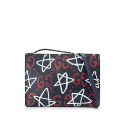 Pre-Owned Gucci GucciGhost Print Zip Pouch