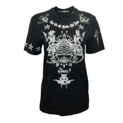Givenchy Black Graphic Amor Tee Shirt