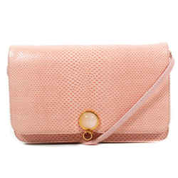 Judith Leiber - Mini Snakeskin Crossbody Bag - Pink Leather Gem Flap Vanity Kit