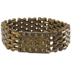 Chanel 97a Bronze Chain Mesh Bracelet Cuff Bangle 860794