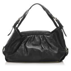 Black Fendi Doctor B Leather Handbag Bag