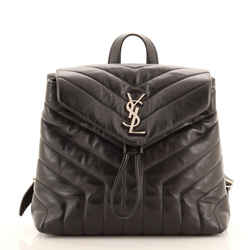 LouLou Backpack Matelasse Chevron Leather Small