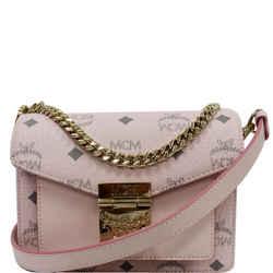 MCM  Mini Patricia Visetos Leather Crossbody Bag Powder Pink