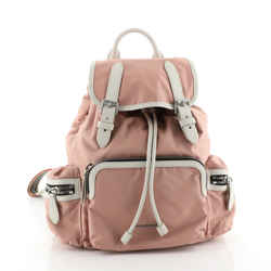 Rucksack Backpack Nylon with Leather Small