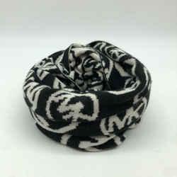 Michael Kors Black Knit Logo Scarf