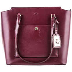Ralph Lauren Tote Bag Maroon One Size Authenticity Guaranteed