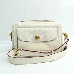 Coach Signature Cassie 640 Women's Coated Canvas,Leather Shoulder Bag G BF529822