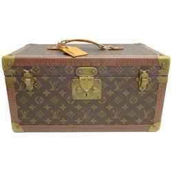Authentic Louis Vuitton Boite Avec Miroir Vanity Case Vintage Monogram Signature Logo Travel 1