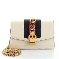 Sylvie Chain Shoulder Bag Leather Super Mini