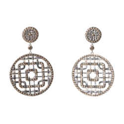 John Hardy Silver & 18k Gold Drop Earrings