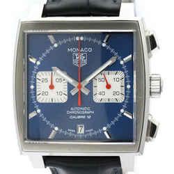 Polished TAG HEUER Monaco Chronograph Steel Automatic Watch CAW2111 BF516867