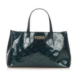 Vintage Authentic Louis Vuitton Green Vernis Wilshire PM France