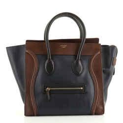 Tricolor Luggage Bag Leather Mini