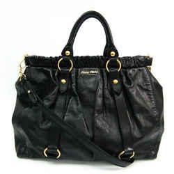 Miu Miu Women's Leather Handbag,Shoulder Bag Black BF519584