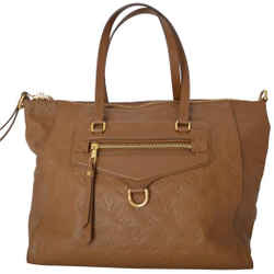 Louis Vuitton Lv Caramel Brown Leather Shoulder Bag