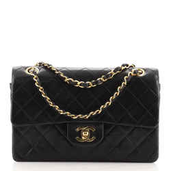 Vintage Classic Double Flap Bag Quilted Lambskin Small