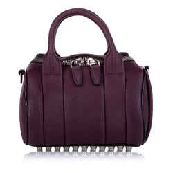 Vintage Authentic Alexander Wang Purple Calf Leather Rocco Satchel CHINA