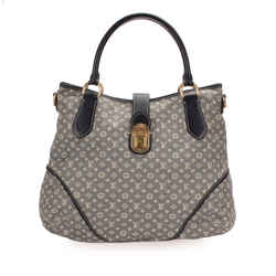 Vintage Authentic Louis Vuitton Gray Monogram Mini Lin Idylle Romance France