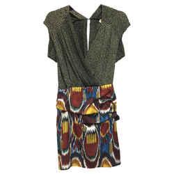 Dries van Noten Multi-color Cocktail Dress Size: 6 (S) Length: Short