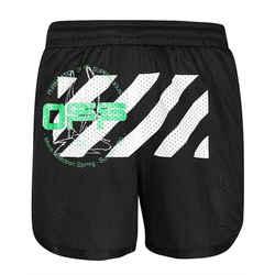 New Off-white Black Brilliant Green Mesh Harry The Bunny Shorts