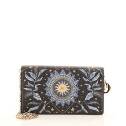 Lady Dior Wallet on Chain Pouch Printed Leather