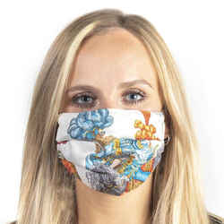 HERMES Vintage Les Fetes du Roi Soleil Turquoise Silk Scarf Face Mask