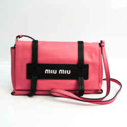Miu Miu GRACE LUX 5BD075 Women's Leather Clutch Bag,Shoulder Bag Black, BF533948