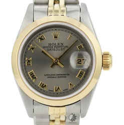 Rolex Lady Datejust Grey Dial Smooth Bezel 26mm All Original Watch