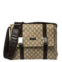 Gucci Beige/Brown GG Supreme Canvas Messenger Bag