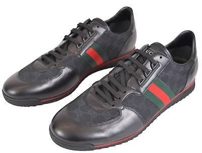 Gg Red Green Web Stripe Sneakers