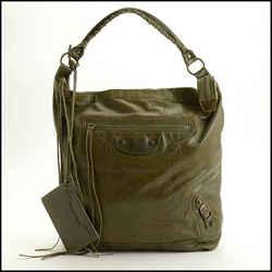 Rdc11747 Authentic Balenciaga Olive Green Chevre Classic Day Bag
