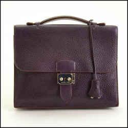 Rdc11382 Authentic Hermes Raisin Sac A Depeches 27 Mini Briefcase
