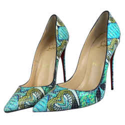 Christian Louboutin Multicolor So Kate Multi Python Sky-high Pumps