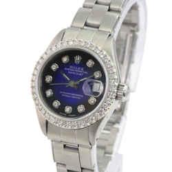Rolex Datejust BLue Diamond Dial Diamond Bezel Oyster Band 26mm Watch