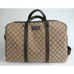 Gucci Monogram Boston Duffle Bag - Brown
