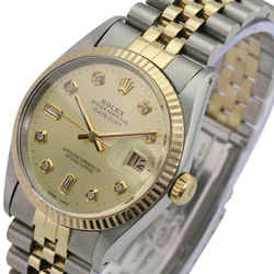 Champagne Mens Datejust Diamond Dial Fluted Bezel 36mm-quickset Watch