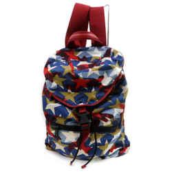 Valentino Garavani Red Blue Printed Camustars Backpack Multicolor 859828