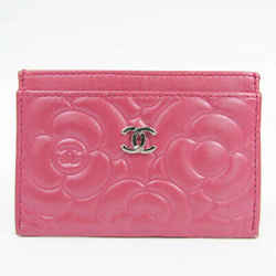 Chanel Camellia Leather Card Case Pink BF522863