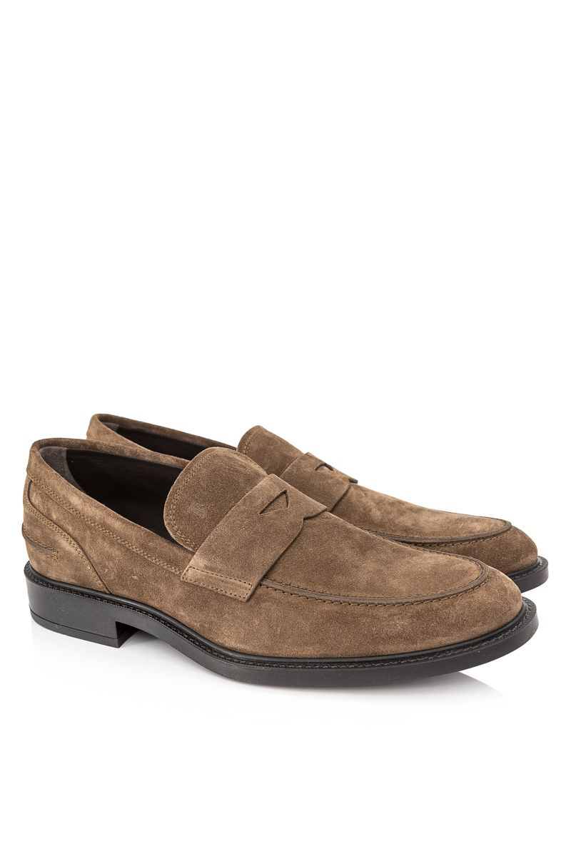Pre-Owned Tod's Suede Penny Loafers