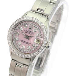 Rolex Pink Mop Lady Datejust Diamond Dial Diamond Bezel Oyster Band Watch