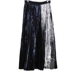 Proenza Schouler Black and Silver Polyester Skirt sz 2