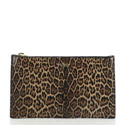 Zip Pouch Printed Leather Small