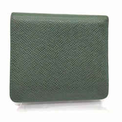 Louis Vuitton Green Taiga LEather Porto Vie 3 Cults Wallet Credit 857415