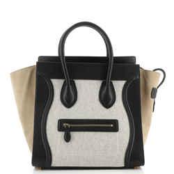 Luggage Bag Canvas and Leather Mini