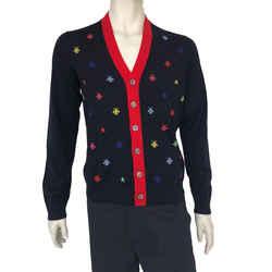 Multicolor Bee & Star Wool Cardigan