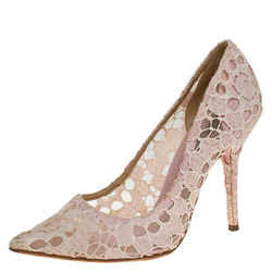 Dolce & Gabbana Beige Lace Pointed Toe Pumps Size 38