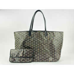 Goyard Black Chevron St Louis Tote with Pouch 861841