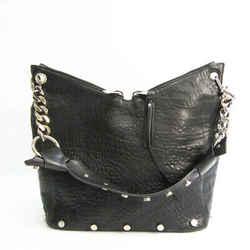 Jimmy Choo Women's Leather Shoulder Bag Black BF531011