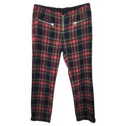 toile Isabel Marant Wool Plaid Cuffed Size: 4 (S, 27)